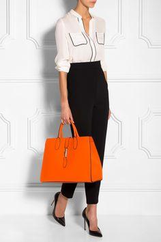 ORANGE Jackie Tote Bag Orange Tote Bags, Orange Bag, Luxury Fashion, Womens Fashion, Designing Women, Fashion Online, Gucci, Handbags, Shopping