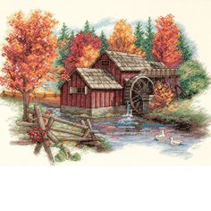 Dimensions Counted Cross Stitch Kit, Glory of Autumn