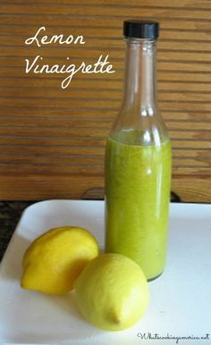 Favorite Lemon Vinaigrette Recipe  |  whatscookingamerica.net  |  #lemon #vinaigrette #dressing #salad Vinaigrette Recipe, Lemon Vinaigrette Dressing, Lemon Salad Dressings, Lime Salad Dressing, Salad Dressing Recipes, Salad Recipes, Olive Oil And Lemon Dressing, Lemon Vinegarette, Kale Salad