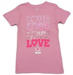 Packers Girls Pink Emphatically Love T-shirt Love T Shirt 643446039