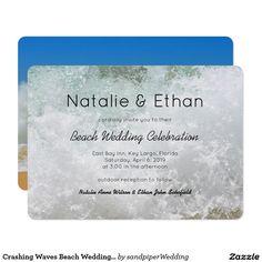 Crashing Waves Beach Wedding Invitation