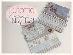 Tutorial cascada fácil con sobres, Waterfall envelopes - YouTube