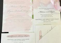 Water color Wedding Invitations
