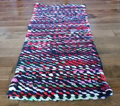 Rag Rug T Shirt Weaving Handmade Colourful Boho Farmhouse 36 5 In X16 Free Canada Us Shipping