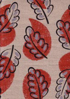 Borderline Fabrics, Cressida Bell, Woodland (red)