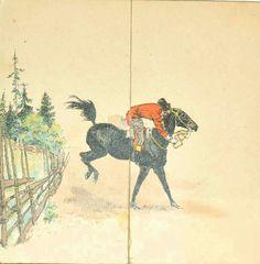 Kunstnerkort Andreas Bloch brukt 1893 utbrettskort