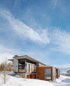 Rückzug in den Bergen - Ein rustikal modernes Haus in Wyoming