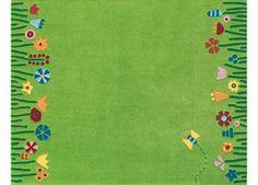 tapis 'Dans le pré' avec un papillon