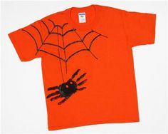 spider handprint shirt