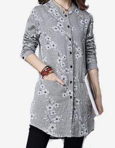 Clothes vintage style blouses 52 New ideas Mode Abaya, Mode Hijab, Stylish Dresses, Fashion Dresses, Fashion Clothes, Affordable Dresses, Style Clothes, Short Kurti Designs, Kurta Neck Design