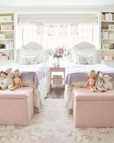 The girls realized that if they take the tops of these Lulu & Geor Shared Girls Room Dreams Geor girls Lulu realized Sweet tops Twin Girl Bedrooms, Little Girl Rooms, Girls Bedroom, Bedroom Decor, Twin Girls, Bedroom Ideas, Lego Bedroom, Bedroom Table, Childs Bedroom