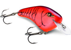 DT Flat Custom Ink Colors/Mike Iaconelli - pull bass off ambush points and from deep points. High contrast patterns enhance the flat sided hard-flashing action. The enhanced coffin lip deflects off underwater obstacles in a darting, escape-style blast fish find hard to resist. Long-casting, each possess DT preset depth control, diving to strike zone and staying there. Internal rattle chamber adds baritone sound attraction. VMC® black nickel hooks.