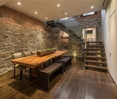 stone wall basement conversion