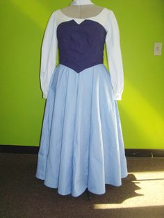 Ariel's Blue Peasant Dress from the Little Mermaid