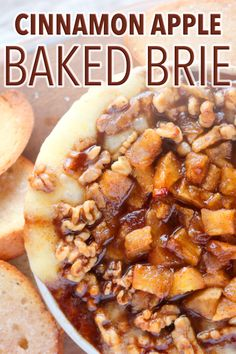 An addictively yummy baked brie appetizer with cinnamon apples and walnuts smothered in a quick and easy caramel sauce! The perfect mix of sweet and savory, creamy and crunchy and the best fall appetizer ever! Baked Brie Appetizer, Fall Appetizers, Appetizer Recipes, Snack Recipes, Appetizer Ideas, Best Appetizers Ever, Vegetarian Appetizers, Burger Recipes, Apple Dessert Recipes