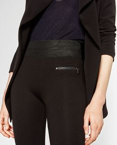 Image 4 of HIGH WAIST LEGGINGS from Zara
