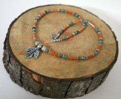 Men's Leaf Necklace Masculine Necklace Unisex Jewelry by Karenda