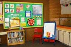 the teacher wife: calendar wall Toddler School, Toddler Classroom, Classroom Setup, Preschool Classroom, Classroom Activities, Classroom Organization, Kindergarten, Learning Activities, First Grade Calendar
