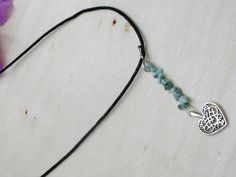 Be The Star That You Are Twinflame  Larimar Necklace door EASTERNSOULS op Etsy