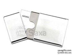 Hộp namecard kim loại in logo nắp rời bo góc sang trọng – NK018