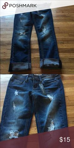 Dollhouse Roll Up Distressed Skinny Jeans Dollhouse Roll Up Distressed Skinny Junior Size 3. Price Firm.  All prices have been lowered to the lowest price possible unless you bundle. Dollhouse Bottoms Jeans