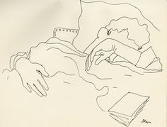 "From Jean Cocteau, dessins d'un dormeur,"" Lausanne, H. Mermod, s. Life Drawing, Figure Drawing, Painting & Drawing, Jean Cocteau, You Draw, Art Graphique, French Artists, Collage Art, Art Drawings"