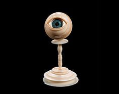A rare South German anatomical model of an eye probably late 17th century composed of ten individual sections including an iris, pupil,