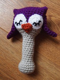 This pattern set will instruct you on my how to crochet my original amigurumi Sleepy Owl baby rattle.