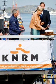 Dutch Queen Maxima names the Nh1816 Lifeboat of the KNRM in IJmuiden, The Netherlands, 02.04.14. The new lifeboat Nh1816 of the Royal Dutch Rescue Organization is a donation from the charity foundation Nh1816 insurance. The KNRM was founded in 1814 and saves more than 3.000 people in the North Sea.