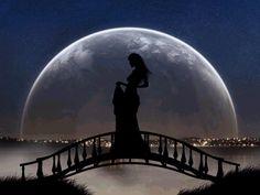 romantica al chiaro di luna