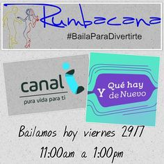 Hoy viernes 29/7 bailaremos y compartiremos en el Programa @yquehaydenuevo con @lamarisolrr @adripolivares @bivirosales @josegremo @cocosanchez33  En el @canal_i  #Rumbacana #BailaParaDivertirte #Canal-i