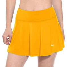 Discounted BALEAF Women's Workout Training Skirts Active Skort Tennis Golf Skirt Yellow Size S #BALEAFWomen'sWorkoutTrainingSkirtsActiveSkortTennisGolfSkirtYellowSizeS