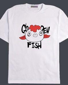 Hoozuki no Reitetsu t shirt funny Goldfish grass tops for teenage