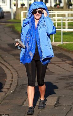 Working up a sweat? Taking a break from the rigours of motherhood, the 32-year-old model a...