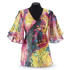 Rock Pool Tunic - New Age, Spiritual Gifts, Yoga, Wicca, Gothic, Reiki, Celtic, Crystal, Tarot at Pyramid Collection