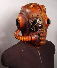 What is a steampunk leather mask?