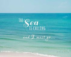 Best Inspirational Quotes About Life QUOTATION - Image : Quotes Of the day - Life Quote Sea is Calling Beach Photography, Typography Print, Seaside Quote, Seaside Quotes, Sea Quotes, Life Quotes, Beach Vacation Quotes, Beach Quotes And Sayings, Road Trip Quotes, Travel Quotes, Beach Sunset Photography, Street Photography