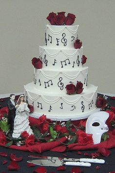 Phantom of the Opera Wedding Cake by Graceful Cake Creations, via Flickr