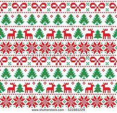 New Year's Christmas pattern pixel, card - scandynavian Norwegian sweater style Xmas Cross Stitch, Cross Stitch Borders, Cross Stitching, Cross Stitch Embroidery, Cross Stitch Patterns, Christmas Embroidery, Christmas Knitting, Christmas Cross, Christmas Sweaters