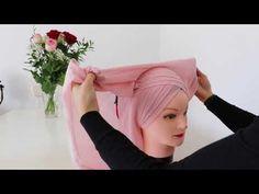 Turban tasarim / Hijab Tutorial - YouTube Head Scarf Tutorial, Turban Tutorial, Hijab Style Tutorial, Turban Hijab, Hijab Dress, Muslim Hijab, Turban Style, Hijab Bride, Wedding Hijab