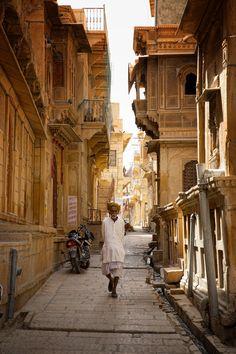 On the streets of Jaisalmer - India