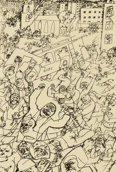 Pandemonium 1919 George Grosz