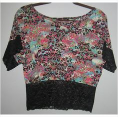 Ladies multi-colored floral top, Size-large