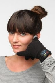 Talk to the hand! Glove Phone Handset #TimeTraveler #bluetooth #gadgets great-ideas-why-didn-t-i-think-of-that