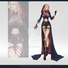 Outfit 263 by JawitReen on DeviantArt Dress Drawing, Drawing Clothes, Fashion Design Drawings, Fashion Sketches, Anime Outfits, Cute Outfits, Anime Dress, Illustration Mode, Fantasy Dress