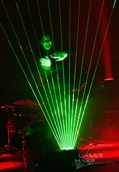 Infinite Beam Laser Harp, using LP Laser harp Controller