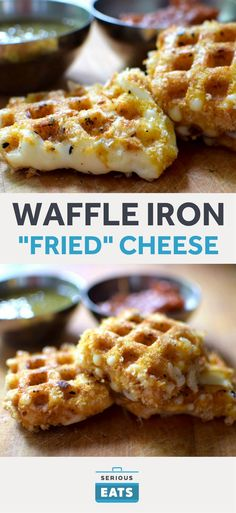 Calphalon Precision Control Waffle Make – Matte Black Waffle Iron Fried Cheese (Queso Frito) – Waffle Maker – Ideas of Waffle Maker – Yes you can waffle cheese. Queso Cheese, Cheese Fries, Fried Cheese, Cheese Food, Crepes, Bariatric Eating, Bariatric Recipes, Bariatric Surgery, Ketogenic Recipes