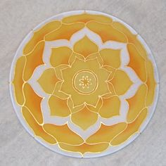 Lotus flower mandala on silk No 0124 20 cm Ø by ShantiCreation Lotus Design, Mandala Design, Paisley Design, Paisley Pattern, Ancient Tattoo, Yoga Tools, Lotus Flower Mandala, Mandala Canvas, Fabric Embellishment