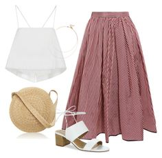 """""""Pleated skirt"""" by n-mina4401 ❤ liked on Polyvore featuring Tome, A.L.C., Tahari, Samuji and Sole Society"""