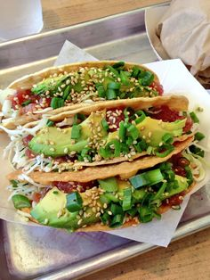 Best Ahi Tuna Tacos Ever (I'm a soft tortilla kind of girl, and they're perfect)